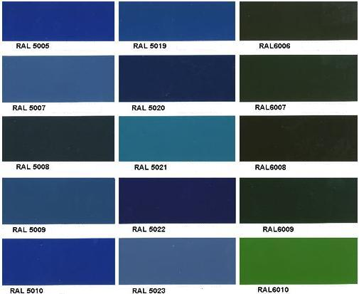 carta de colores con azul imagui
