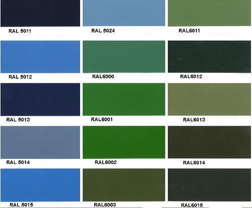 Recubrimientos dona s l pintura epoxi polvo al horno zaragoza for Colores de pintura azul